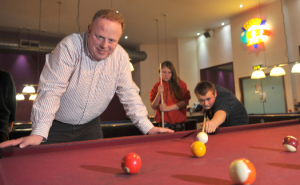 Richard Colebrook at the Leys Youth Programme